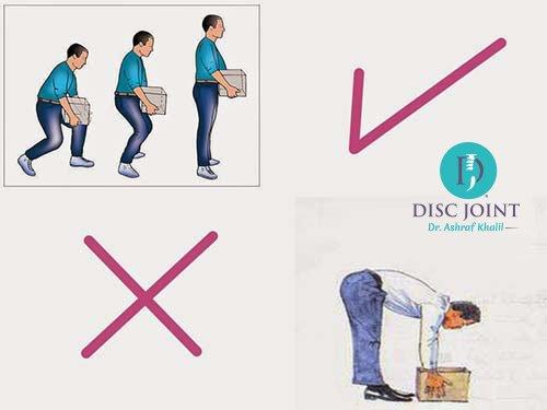 كيفية حمل الاشياء الثقيلة