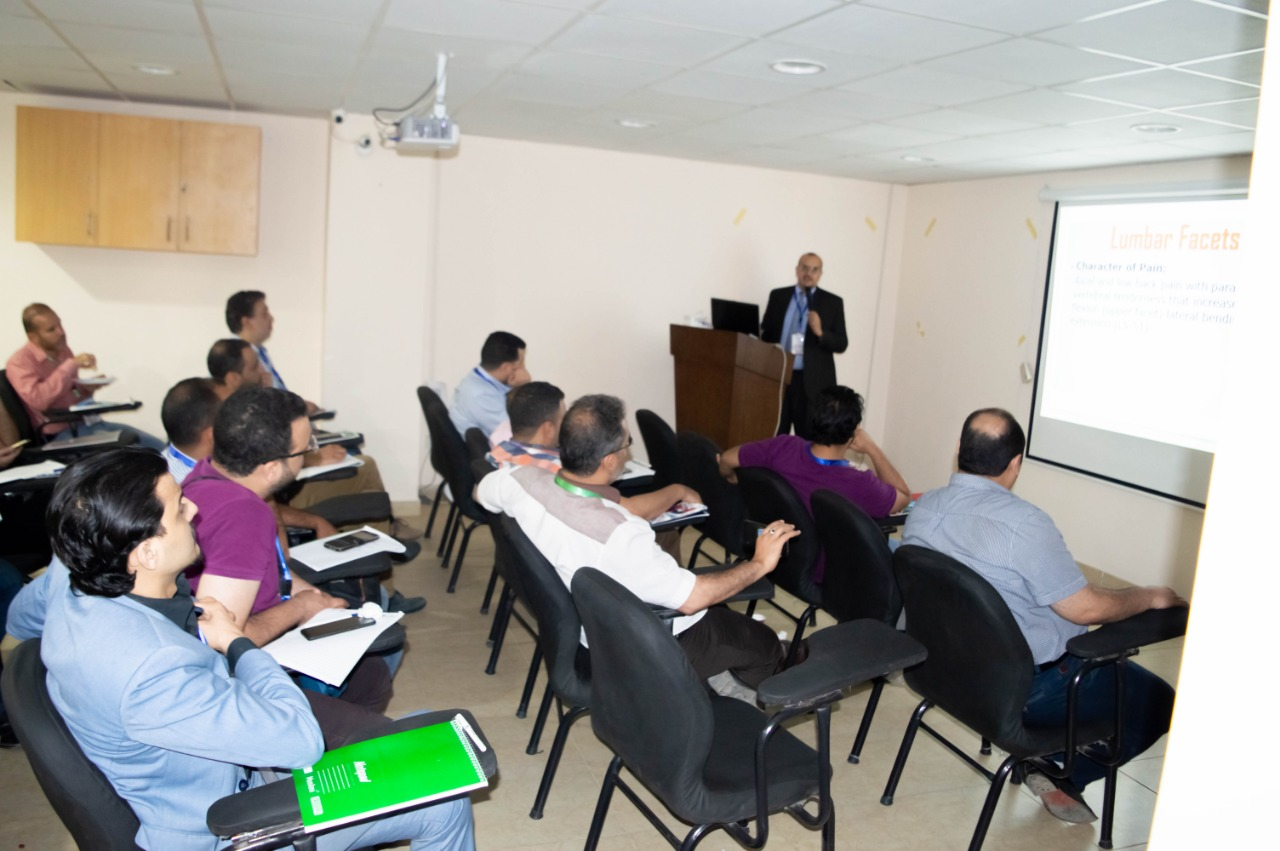 محاضرة الدكتور اشرف بالمؤتمر الدولي تحت رعاية world institute of pain and spine care